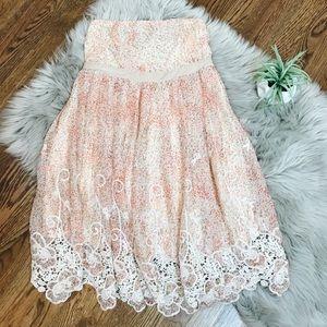 Anthropologie RYU Strapless Floral Dress